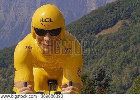 Revel, France, September 15, 2020 : Advertsing Caravan On The Tour De France Roads. Tour De France H