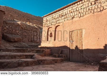House Door At Ait Benhaddou, A Historic Ighrem Or Ksar (fortified Village) Along The Former Caravan