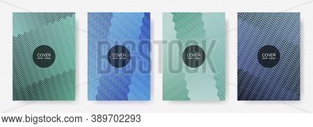 Gradient Zig Zag Stripes Texture Vector Backgrounds For   Booklet Covers. Minimalistic Zig Zag Gradi