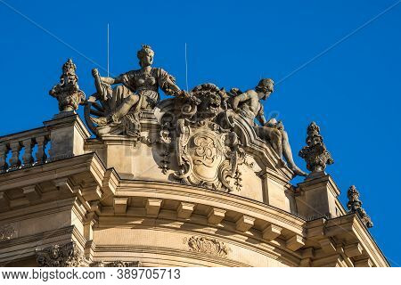 Baroque Revival Styled Old Stock Exchange In Munich, Bavaria, Germany Whichwas Originally Built For