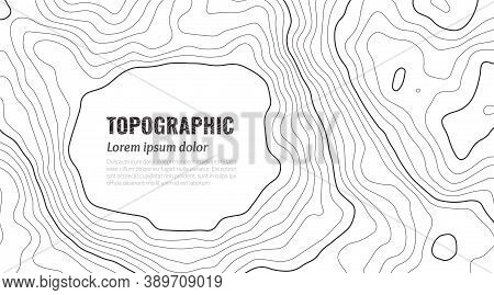 Grey Contours Vector Topography. Geographic Mountain Topographic Vector Illustration. Topographic Pa