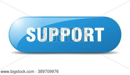 Support Button. Support Sign. Key. Push Button.