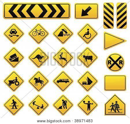 Vector Road Sign Set