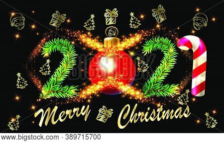 2021 Happy New Year And Merry Christmas Vector Illustration - 2021 New Year And Christmas Vector Bac