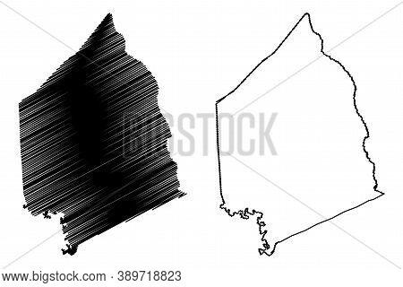 Scott County, Kentucky (u.s. County, United States Of America, Usa, U.s., Us) Map Vector Illustratio