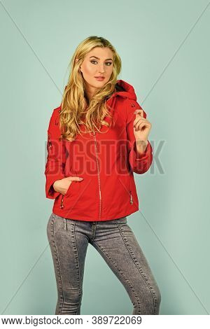 Fashion Has To Reflect Who You Are. Woman Fashion Model. Woman Enjoy Cool Weather. Matching Style An