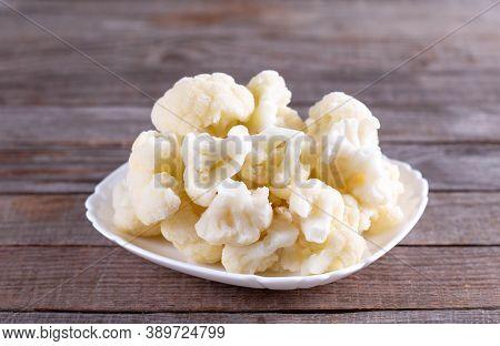 Healthy Frozen Food For The Winter. Frozen Cauliflower Florets, Cabbage
