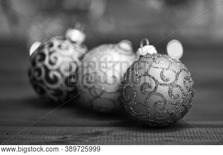 Winter Holiday Concept. Symbol Of New Year And Christmas Holidays. Various Christmas Decorations. De