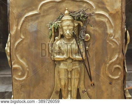 Idol  Of Hanuman, The Monkey God In Hindu Mythology, Worshiped At The Himavad Gopalaswamy Betta A Hi