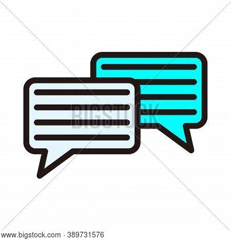 Speech Bubbles Vector Icon Sign. Dialogue Vector Icon. Dialog Vector Icon Sign. Chat Vector Icons Si