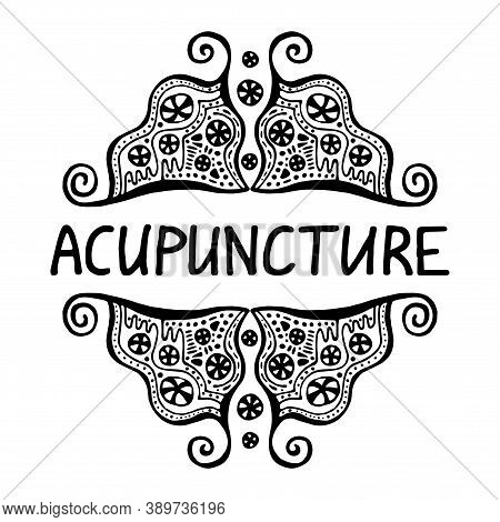 Acupuncture Is An Alternative Medicine. Suitable For Packaging, Web Designs, Advertising Products, L