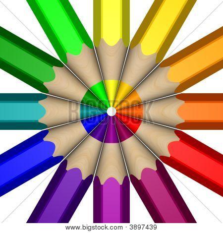 Pencil Color Wheel