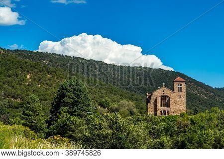Mescalero, Nm / Usa - September 17, 2016: The St. Joseph Apache Mission Church Is A Historic Church