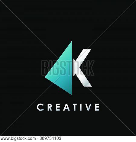 Techno Split Half Letter X Logo Vector Design With Geometrical Triangle Shape.