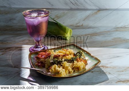 Broccoli Rabe And Leek Mac And Cheese With Harsh Sunlight