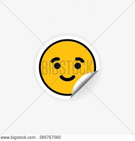 Emoji Sticker. Happy Face. Mood. Vector Eps 10. Isolated On White Background