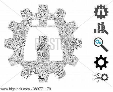 Hatch Mosaic Based On Binoculars Find Options Icon. Mosaic Vector Binoculars Find Options Is Formed