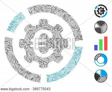 Hatch Mosaic Based On Euro Diagram Configuration Icon. Mosaic Vector Euro Diagram Configuration Is F