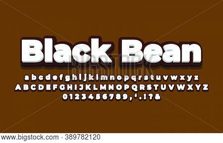 Black Soft With White 3d  Font Effect Or Text Styles Design