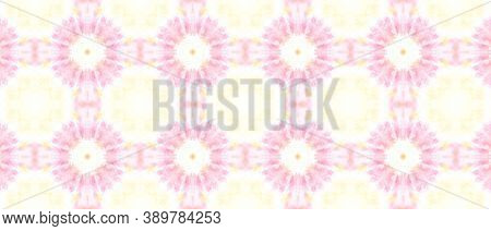 Ethnic Water Color Pattern. Artistic Painted Bandana Background. Pastel Color Design. Abstract Tie D
