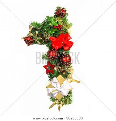 Christmas Alphabet Number 1