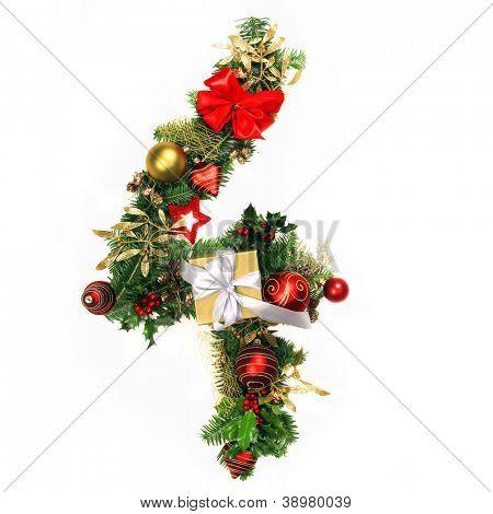 Christmas Alphabet Number 4