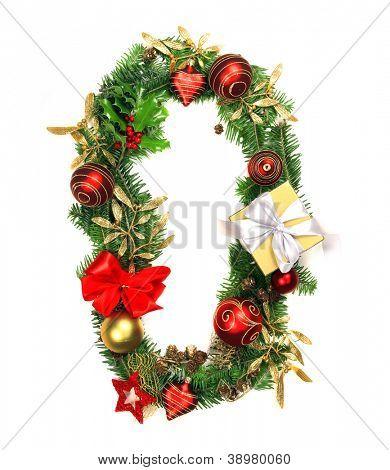 Christmas Alphabet Number 0