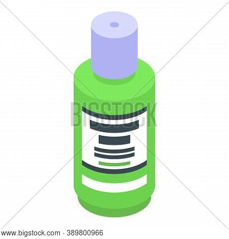 Green Mouthwash Icon. Isometric Of Green Mouthwash Vector Icon For Web Design Isolated On White Back