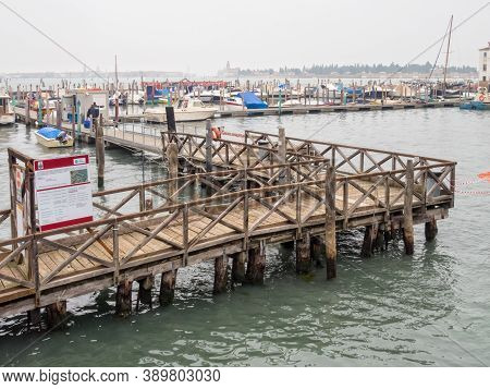 Venice, Veneto, Italy - November 24, 2016: The Sacca Della Misericordia Dockyard In Cannaregio Is Ma