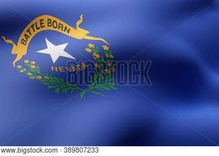 3d Rendering Of A Detailed And Textured Nevada Usa State Flag