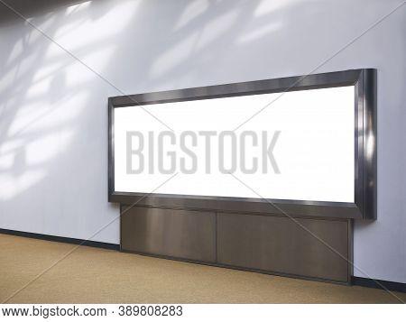 Mock Up Banner Billboard Blank Media Advertisement Indoor Building