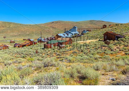 The Standard Mill Which Processed Ore From The Mine. Bodie State Historic Park, Abandoned California