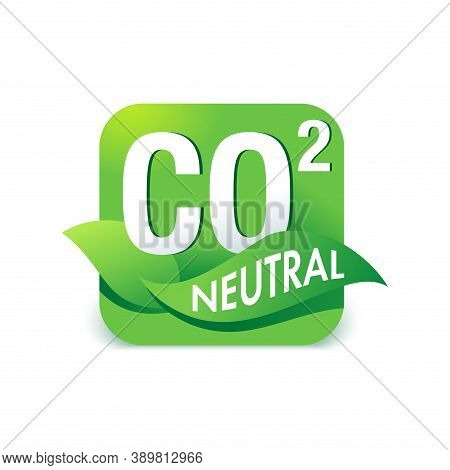 Co2 Neutral Stamp - Carbon Emissions Free Industrial Production Eco-friendly Isolated Sign
