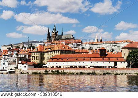 Prague Castle From The Vltava River