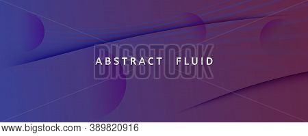 Blue Dynamic Abstract. Flow Line Poster. 3d Background. Vector Digital Stripes. Gradient Memphis Dyn