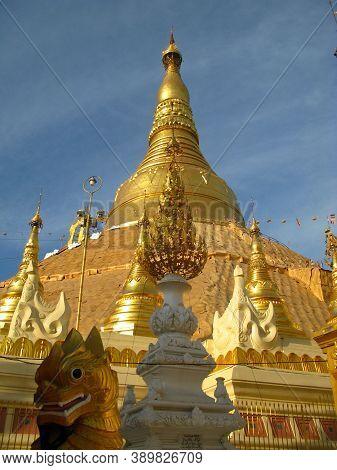 The Temple Shwedagon Pagoda In Yangon, Rangoon, Myanmar
