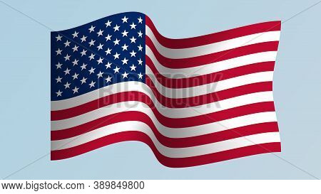 Fluttering Waves Flag United States Of America (usa)