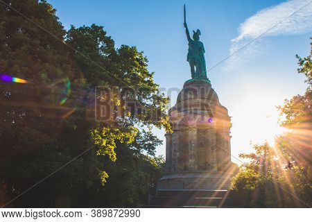 Hermannsdenkmal. Hermann Monument Is The Highest Statue In Germany. It's Located In The Teutoburg Fo