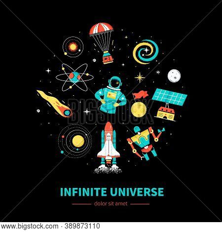 Infinite Universe - Colorful Flat Design Style Web Banner