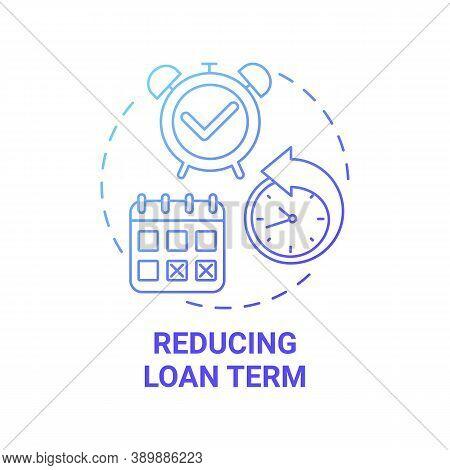 Reducing Loan Term Concept Icon. Mortgage Refinance Benefit Idea Thin Line Illustration. Interest-re