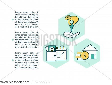 Rental Of Property Concept Icon With Text. Owner Receives Monthly Payments. Tenants Mortgage. Ppt Pa
