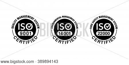 Iso 9001, 14001 And 22000 Certified Stamp Collection - Quality Management System International Stand