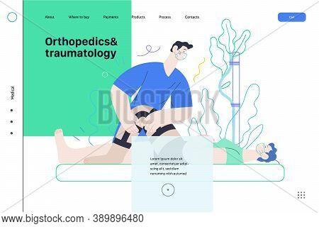 Medical Insurance - Orthopedic And Traumathology -modern Flat Vector Concept Digital Illustration -