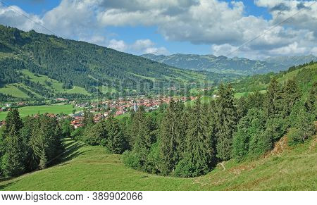 Health Resort Of Bad Hindelang In Allgau,bavaria,germany