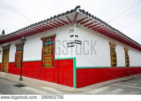 El Retiro, Antioquia / Colombia - October 12, 2020. Municipality Of Colombia, Recognized For Its Col