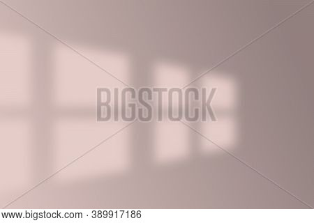 Vector Illustration Of Realistic Shadow Overlay Effect. Blurred Transparent Soft Light Shadow From W