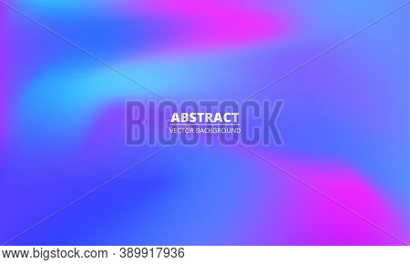 Abstract Liquid Colorful Rainbow Gradient Background. Bright Multicolored Holographic Creative Minim