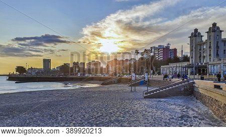 Coastal Urban Scene, Montevideo City, Uruguay