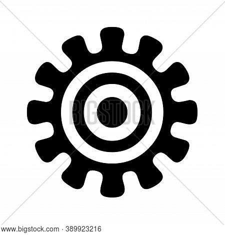 Adinkra African Symbol Of The Authority With A White Background