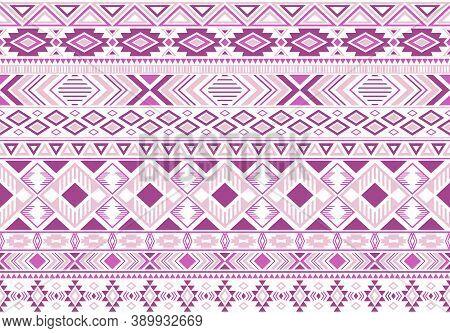 Sacral Tribal Ethnic Motifs Geometric Seamless Background. Doodle Gypsy Tribal Motifs Clothing Fabri